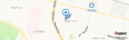 Амрита на карте Сургута