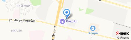 СК-Моторс Сургут на карте Сургута