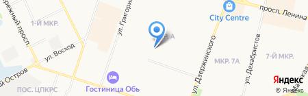 Юничел на карте Сургута
