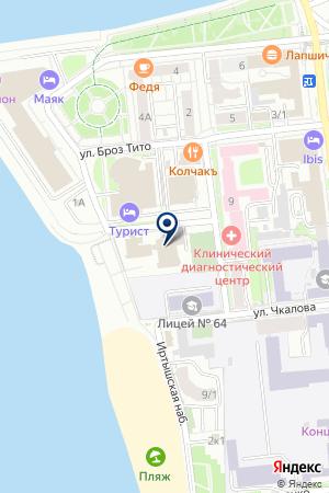 ПРОИЗВОДСТВЕННАЯ ФИРМА ЖАЛЮЗИ на карте Омска