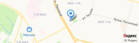 Запсибкомбанк на карте Сургута