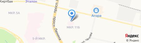 Сургутский клинический психоневрологический диспансер на карте Сургута