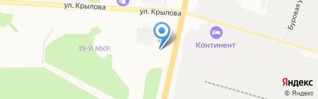 Автоключ на карте Сургута