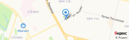 Продуктовый магазин на проспекте Ленина на карте Сургута