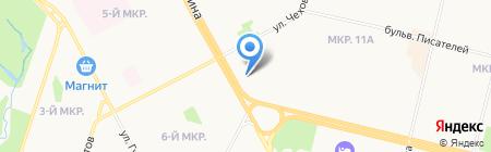 Оника на карте Сургута