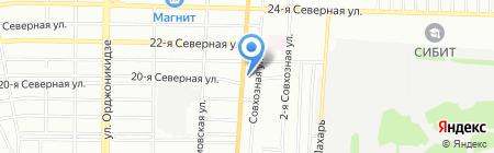 Веста-Сибирь на карте Омска