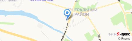 Строящиеся объекты на карте Сургута