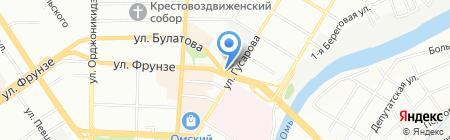 Лагуна на карте Омска