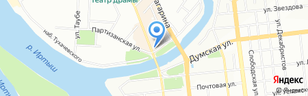 Домрост на карте Омска