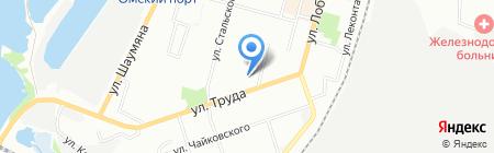 Эстель на карте Омска
