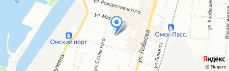 Детский сад №197 на карте Омска