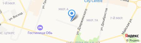 Виртуаль на карте Сургута