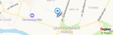 РЭД на карте Сургута