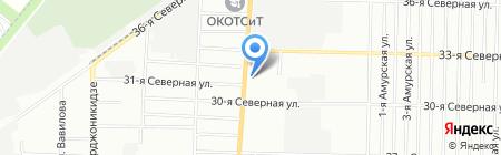 Янтарь на карте Омска
