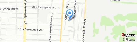 Центральный-8 на карте Омска