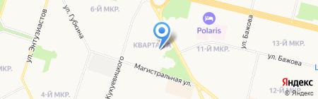 Панкова А.А. на карте Сургута