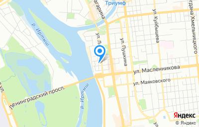 Местоположение на карте пункта техосмотра по адресу г Омск, ул Комиссаровская, д 19