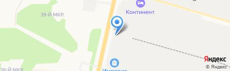 Соболь на карте Сургута
