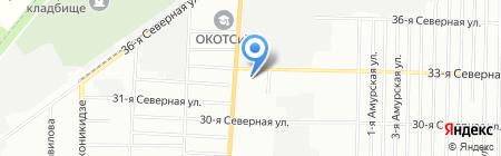 Сапсан на карте Омска