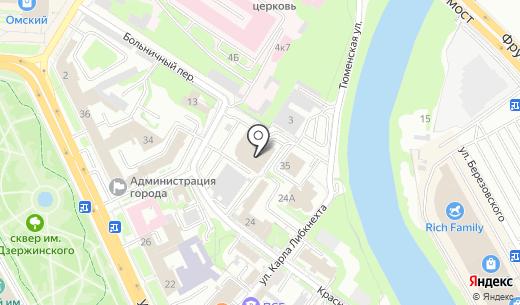 Гарант АНО. Схема проезда в Омске