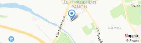 Обои Центр на карте Сургута