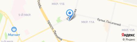 Серебряный источник на карте Сургута