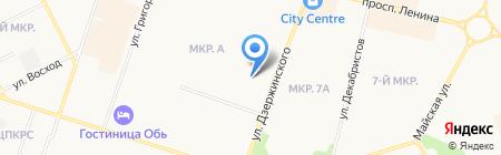 Гидрометеобюро на карте Сургута
