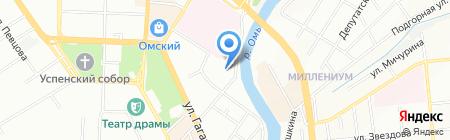 Лабаз на карте Омска