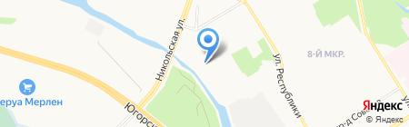 Чистый город на карте Сургута