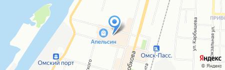 Результат на карте Омска