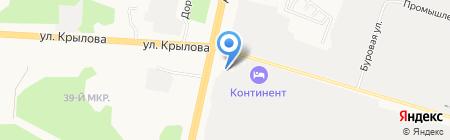 Лайнер на карте Сургута