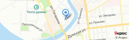 Лазурный берег на карте Омска
