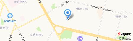 Киоск по ремонту обуви и изготовлению ключей на карте Сургута