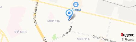 Полиэдр на карте Сургута