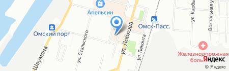 На Серова на карте Омска