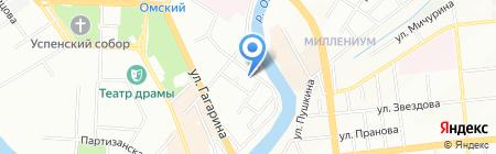 Компсервис на карте Омска