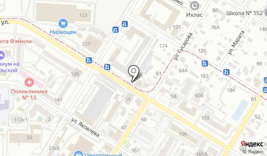Аккорд. Схема проезда в Омске