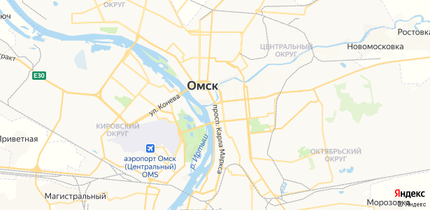 Омск на карте