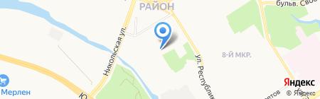 Инженерные системы на карте Сургута