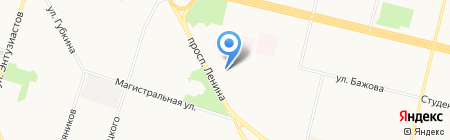 Роллер на карте Сургута