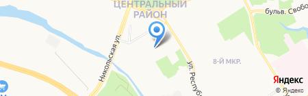 Аура на карте Сургута