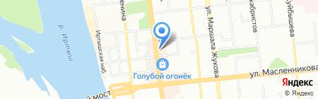 Банкомат АКБ ЮГРА на карте Омска