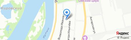 Средняя общеобразовательная школа №125 на карте Омска
