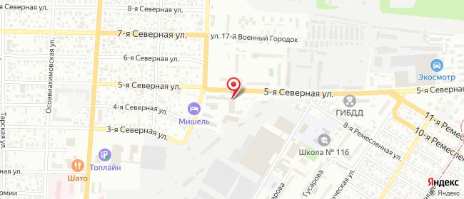 Карта расположения пункта доставки DPD Pickup в городе Омск