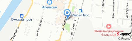Антре на карте Омска