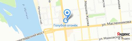 Платина на карте Омска
