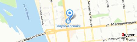 Медиатор на карте Омска