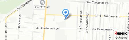 Банкомат Сбербанк России на карте Омска