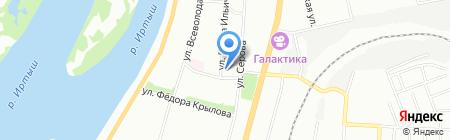 Спутник-Омск на карте Омска