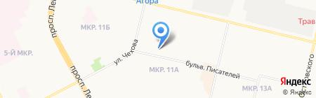 Сандуны на карте Сургута